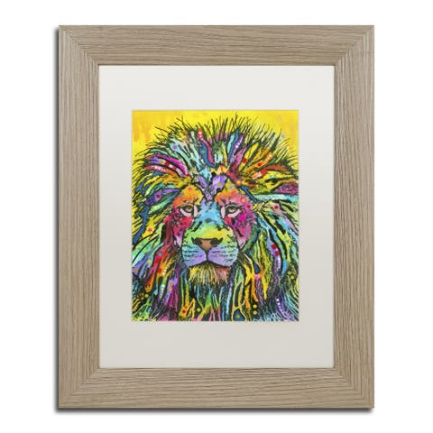 Dean Russo 'Lion Good' Matted Framed Art