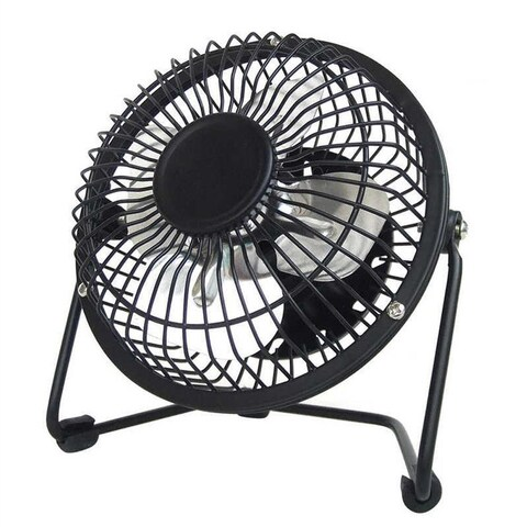 LavoHome 4-inch High Velocity Personal Office Black Electric Table Fan