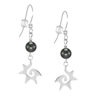 Jewelry by Dawn Hematite Starburst Sterling Silver Earrings