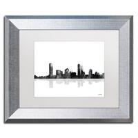 Marlene Watson 'Milwaukee Wisconsin Skyline BG-1' Matted Framed Art