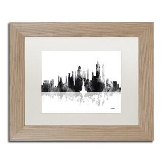 Marlene Watson 'New York New York Skyline BG-1' Matted Framed Art