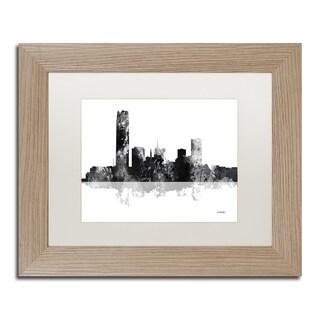 Marlene Watson 'Oklahoma City Oklahoma Skyline BG-1' Matted Framed Art