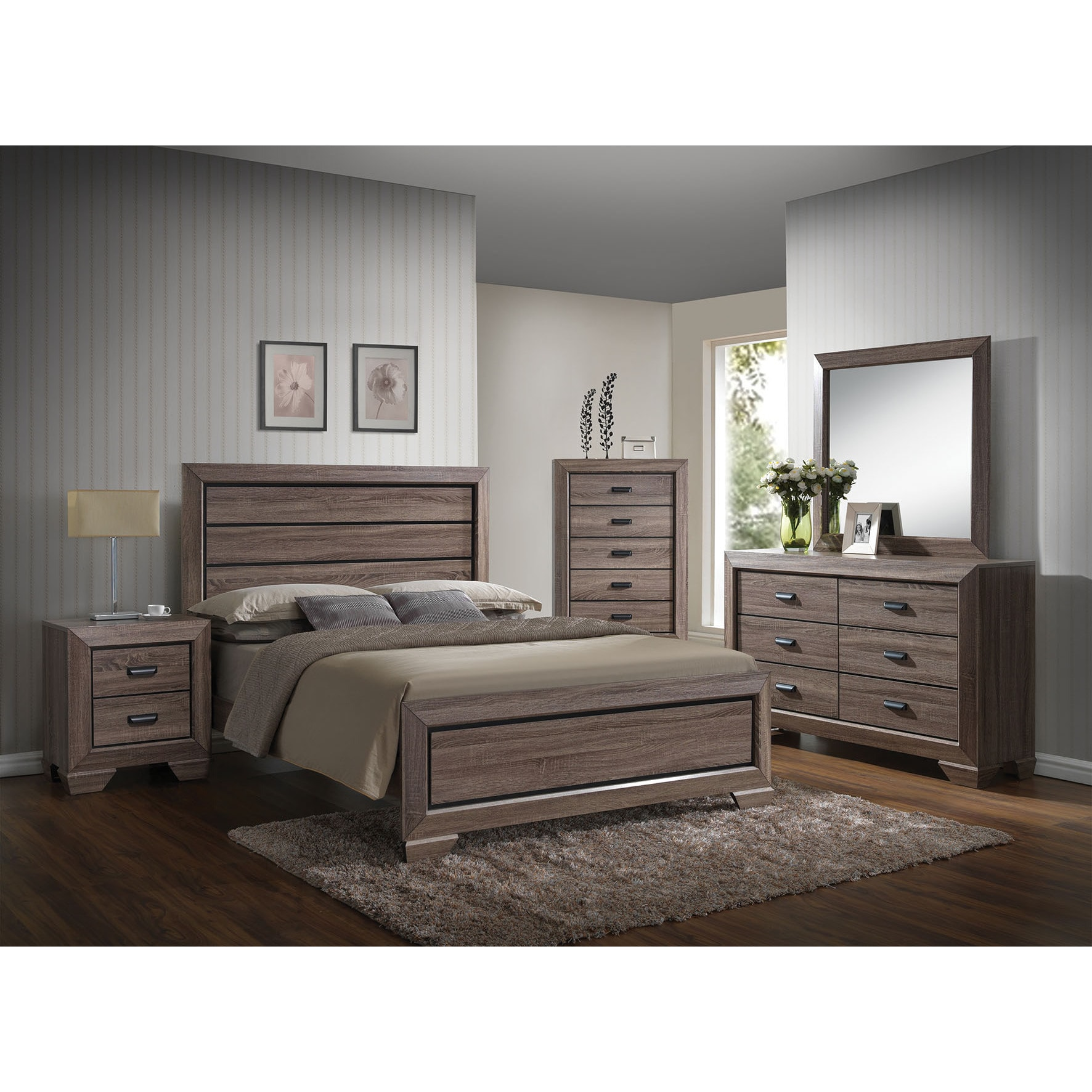 Acme Furniture Weathered Gray Lyndon Bed