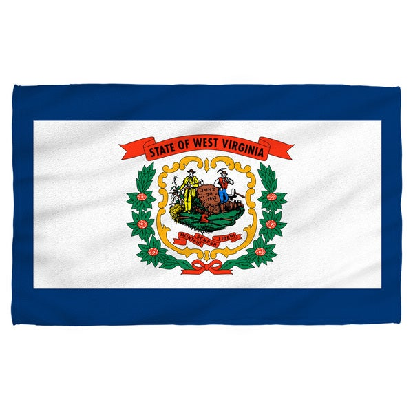 West Virginia Flag Polyester Beach Towel