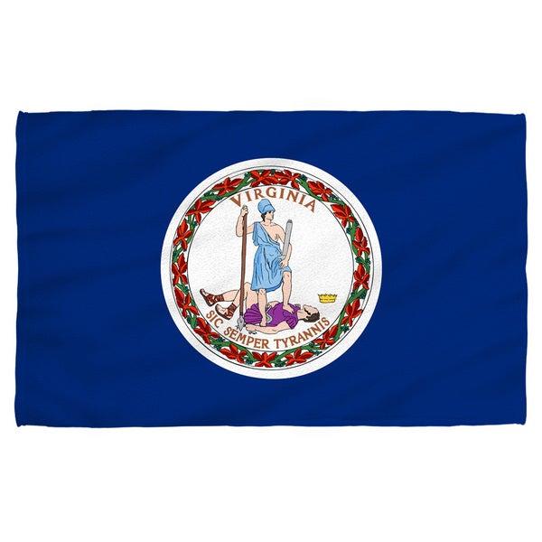 Virginia Flag Polyester Beach Towel