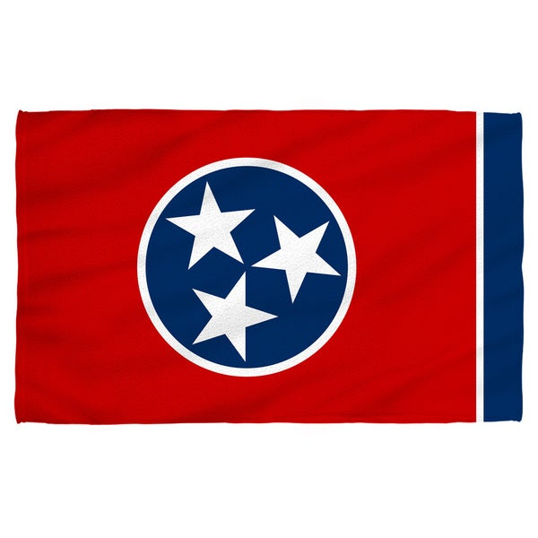 Tennessee Flag Polyester Beach Towel