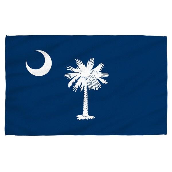South Carolina Flag Polyester Beach Towel