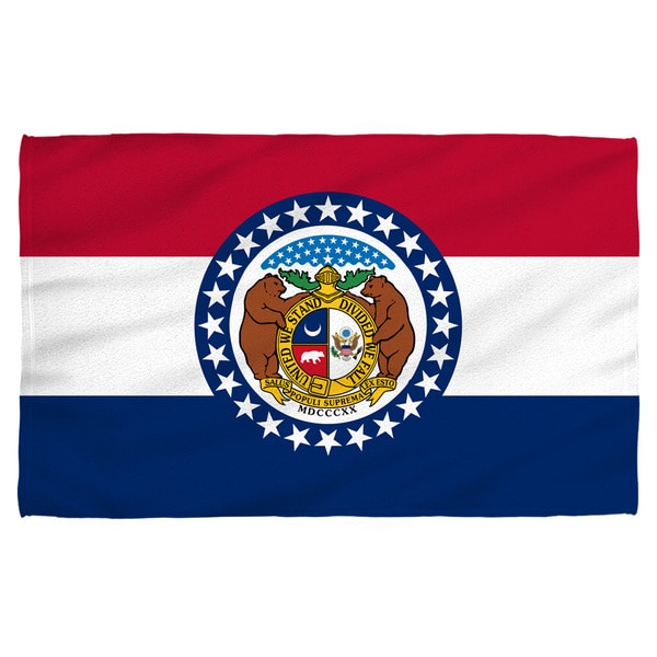 Missouri Flag Polyester Beach Towel
