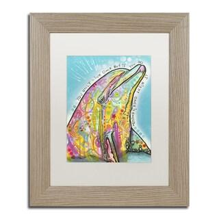Dean Russo 'Dolphin' Matted Framed Art
