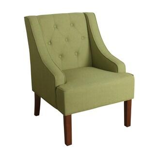 Porch & Den Los Feliz Lyric Garden Green Tufted Swoop Arm Accent Chair