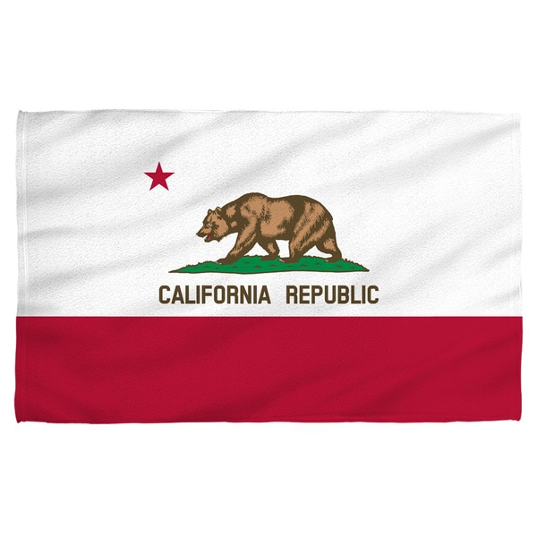 California Flag Polyester Beach Towel