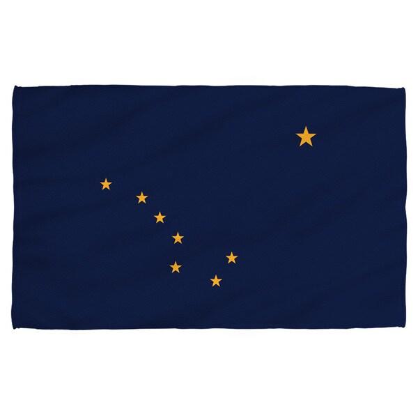 Alaska Flag Polyester Beach Towel
