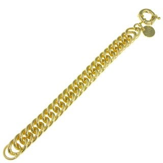 Isla Simone - 18k Gold Plated Link Groumette Chain Bracelet With Spring Ring Clasp