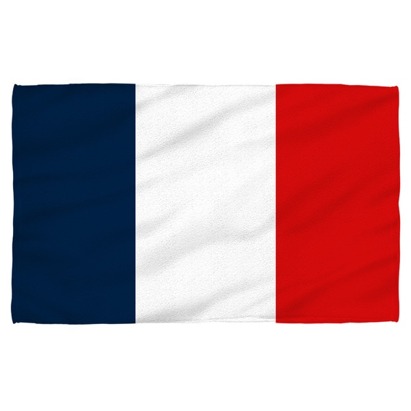 French Flag Polyester Beach Towel