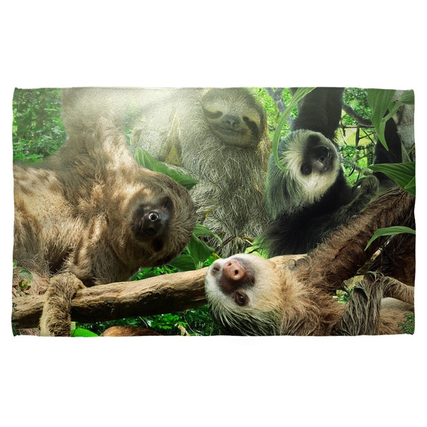 Sloth Club Polyester Beach Towel