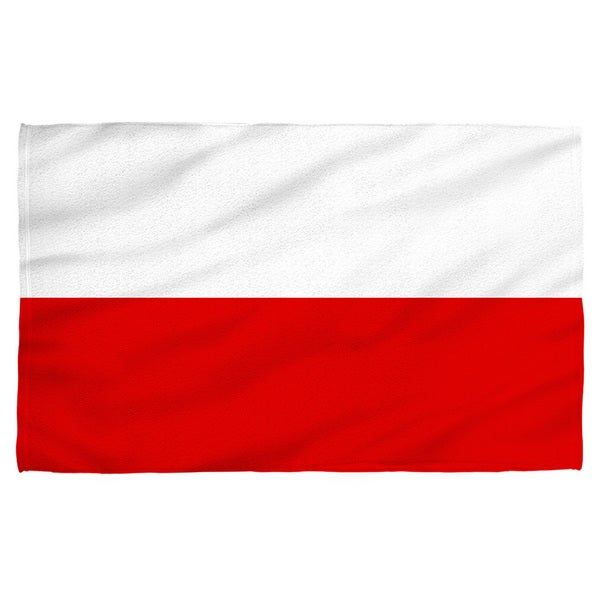 Polish Flag Polyester Beach Towel