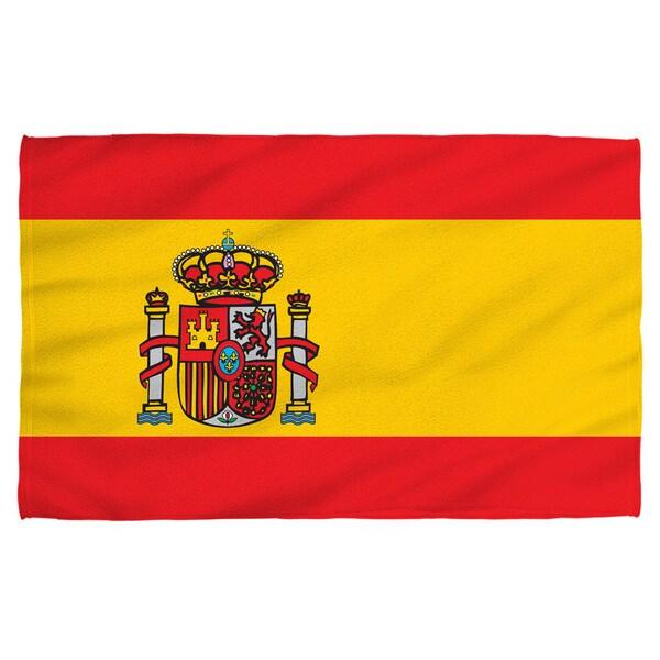 Spain Flag Polyester Beach Towel