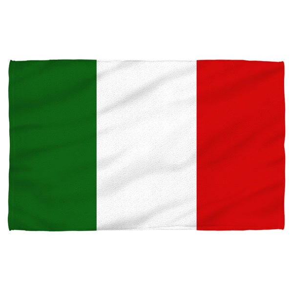 Italian Flag Polyester Beach Towel
