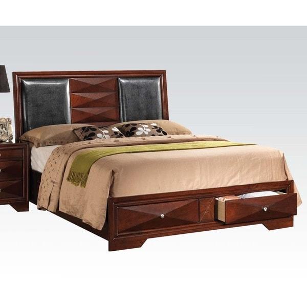 Acme Furniture Merlot Windsor Storage Bed
