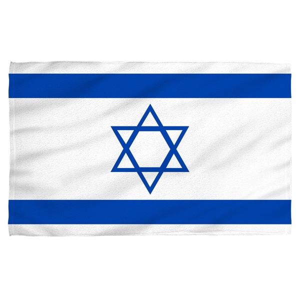 Israeli Flag Polyester Beach Towel
