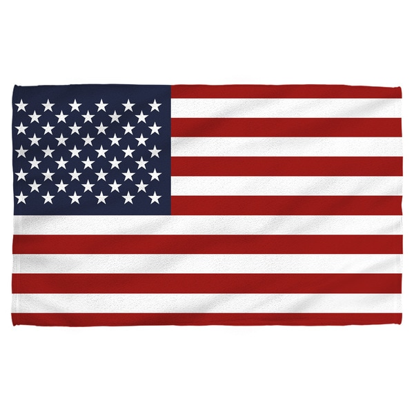 American Flag Polyester Beach Towel