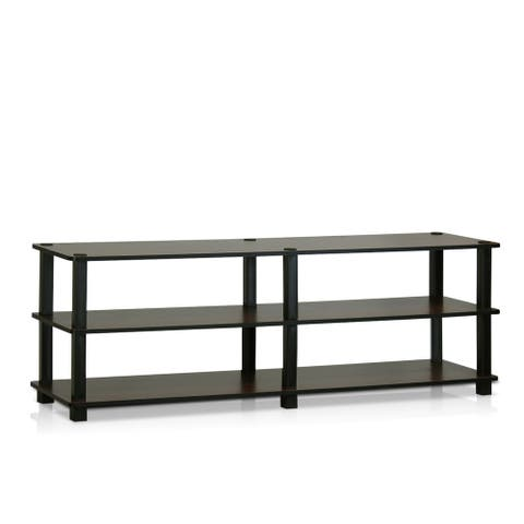 Furinno TV14038 Turn-S-Tube No Tools 3-Tier Entertainment TV Stands