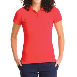 Lee Juniors' Red Short-sleeve Pique Polo