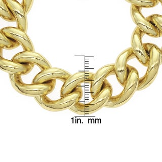 Isla Simone - 18k Gold Plated Classic Groumette Chain Bracelet With Toggle