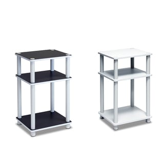Furinno Just 3-tier White End Table