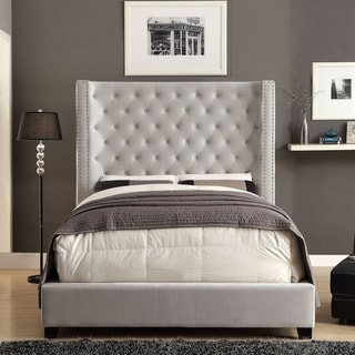 Furniture of America Arun Contemporary Fabric Low Profile Bed