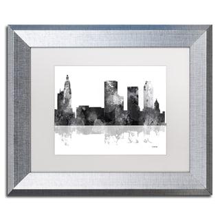 Marlene Watson 'Tulsa Oklahoma Skyline BG-1' Matted Framed Art