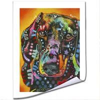 Dean Russo 'Brilliant Dachshund' Paper Art