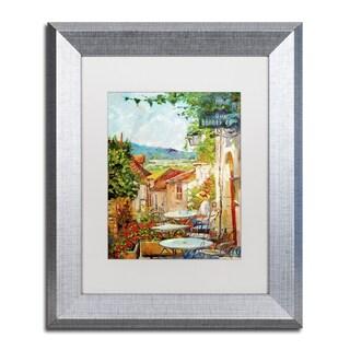 David Lloyd Glover 'Provence Cafe Morning' Matted Framed Art