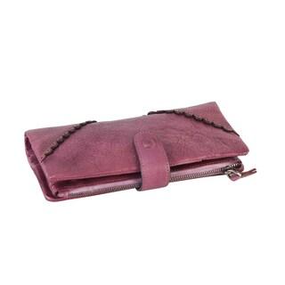 Diophy 8150 Genuine Leather Luxury Vintage Snap-closure Wallet