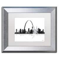 Marlene Watson 'St Louis Missouri Skyline' Matted Framed Art