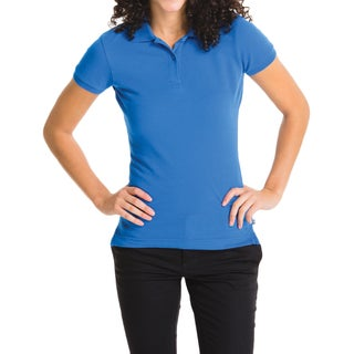 Lee Juniors' Royal-blue Short-sleeve Pique Polo
