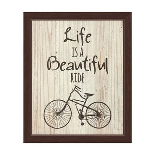 'Life is a Beautiful Ride' Framed Graphic Wall Art