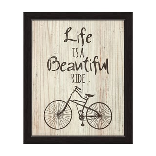 Gris 'Life Is a Beautiful Ride' Framed Graphic Wall Art