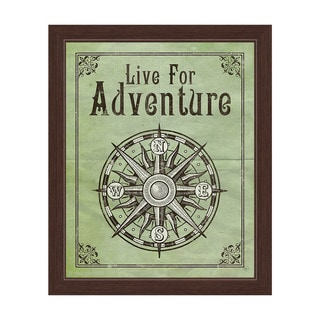 Live For Adventure Green' Framed Graphic Wall Art