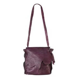 Diophy Leather Zipper Closure Cross Body Bag - XS