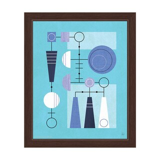 'Retro Blue Motherboard' Framed Graphic Wall Art