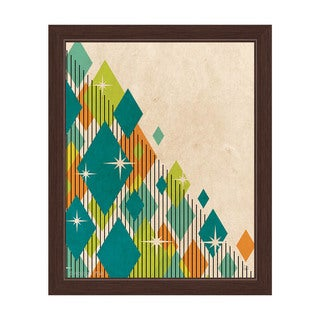 'Retro Sparkling Fiesta Diamonds' Framed Graphic Wall Art (More options available)