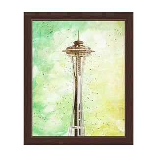 'Space Needle Green' Framed Graphic Wall Art