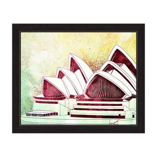 'Sydney Opera House Green' Framed Graphic Wall Art