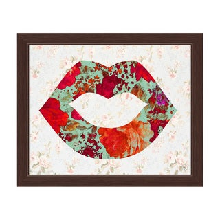 'Gardens and Lips' Framed Graphic Wall Art