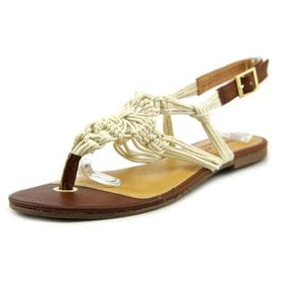 Sixth + Love Women's 'Cecilia' White Basic Textile Sandals