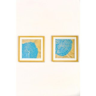 Statements By J Lula Wall Art Collection, Set of 2, 16.5 Inch Tall - Blue