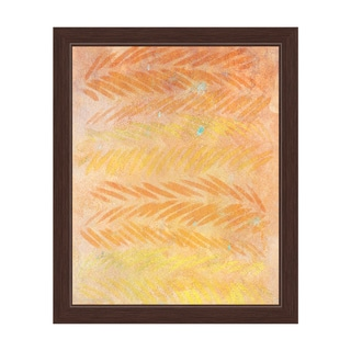 'Amber Leaves' Framed Graphic Wall Art