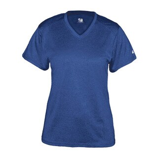 Pro Heather Women's Short Sleeve V-neck Performance Royal T-shirt