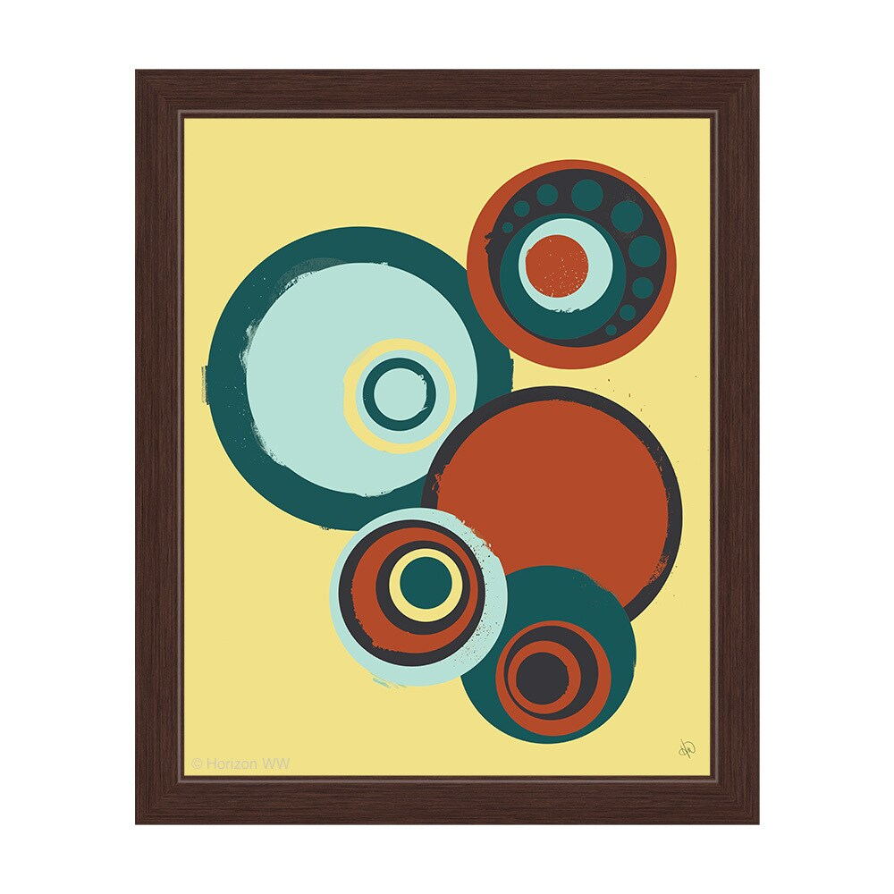 "'Rotating Gears' Framed Graphic Wall Art (16"" x 24"" x 1"")..."